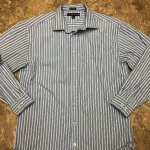 Tommy Hilfiger Blue Striped Long Sleeve Top Shirt